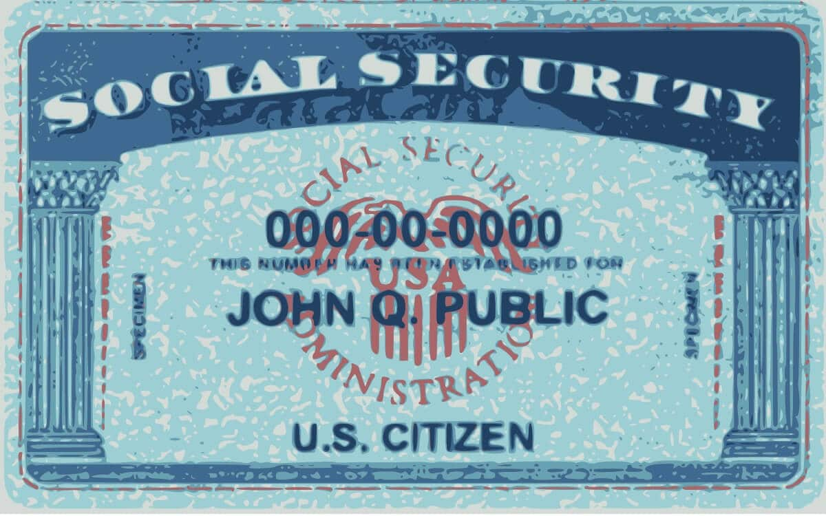 This is what the Social Security card looks like in the U.S.